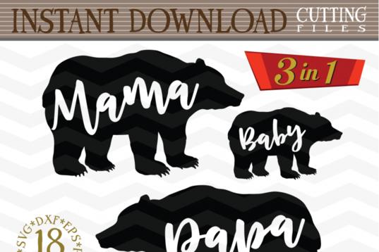 Free Svg Mama Bear Papa Bear And Baby Bear Svg Mama Svg Baby Svg Mama Bear Papa Bear Baby Svg Papa Bear