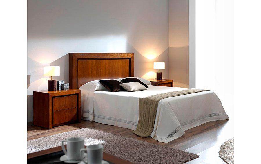 Cabecero moderno madera para cama 150 rimon en 2019 arte for Dormitorio moderno de madera maciza