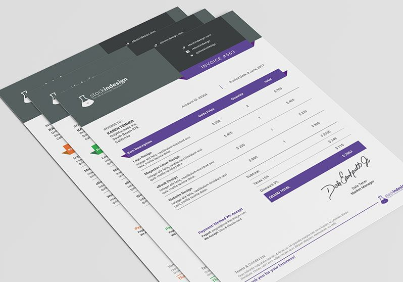 CREATIVE AGENCY INVOICE - Google Search invoice design - indesign invoice template
