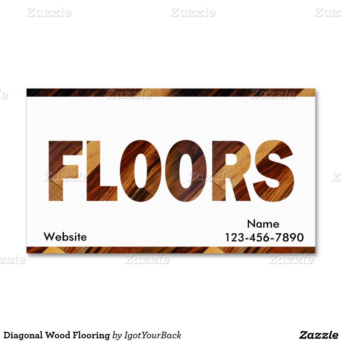 Diagonal Wood Flooring Business Card Wood Flooring Business Cards