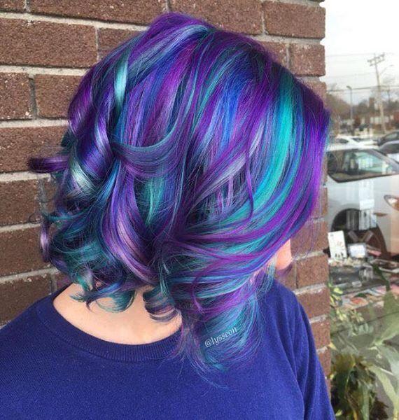 Peacock Hair Hair Styles Dyed Hair Winter Hair Color