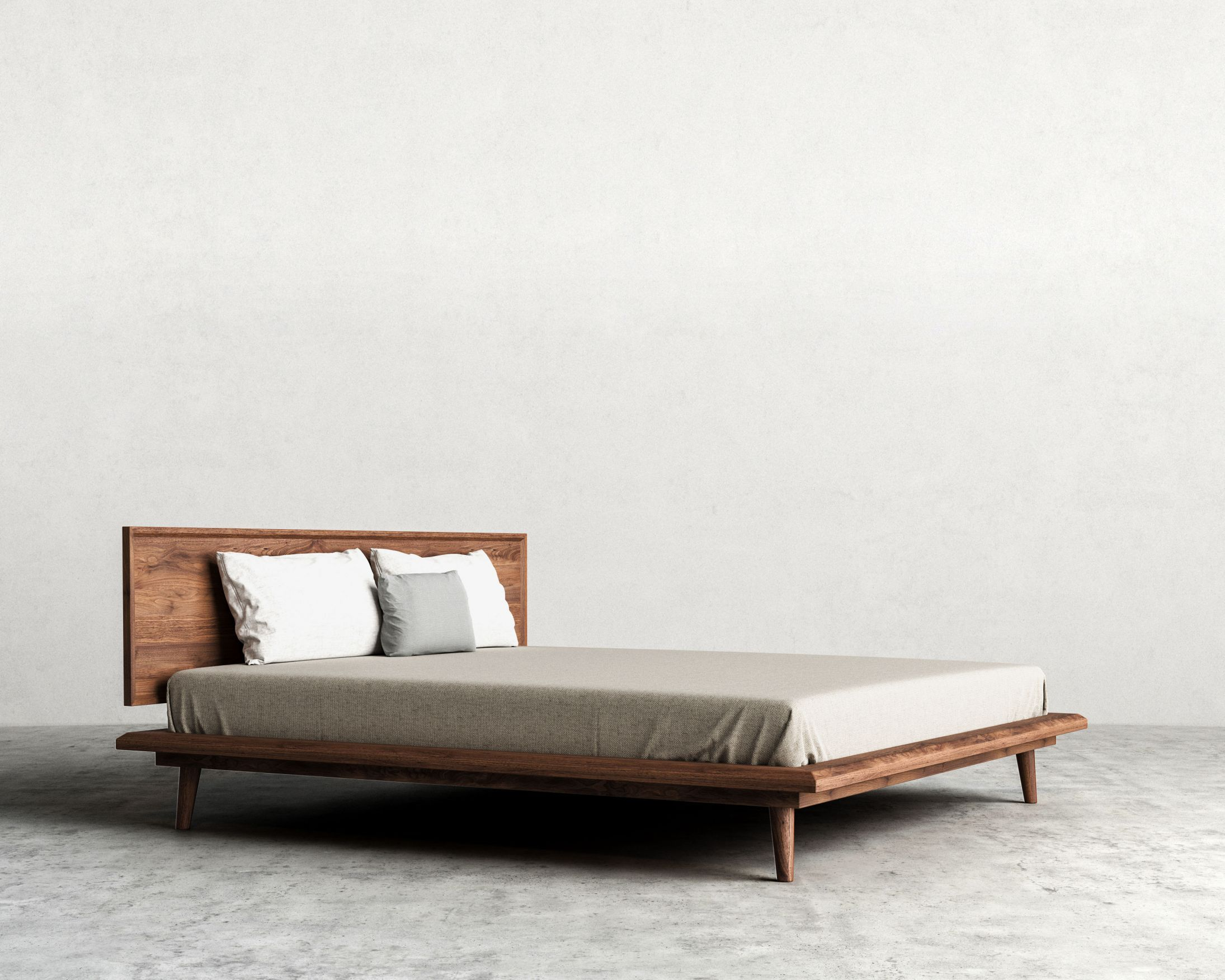 Superior Mid Century Modern Bed | Rove Concepts $1,900 Has Center Post