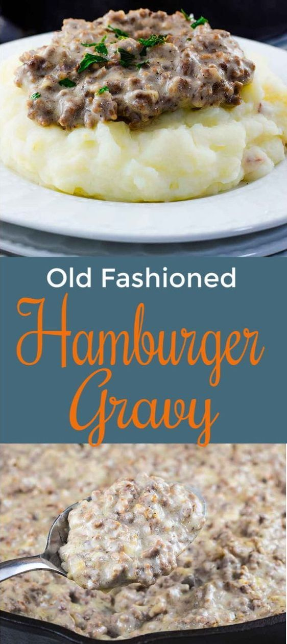 Easy Creamed Hamburger Gravy Recipe   Grace Family Recipes #dinner #dinnerrecipes #hamburger #gravy - Dinnerrecipeshealthy sites