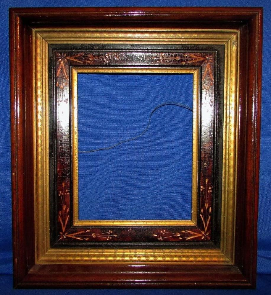 Antique 16x14 Victorian Eastlake Deep Shadow Box Wood Picture Frame ...