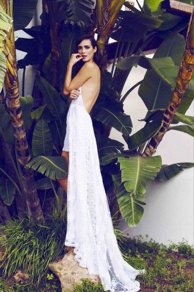 Sensual wedding dresses handcrafted in Ibiza from the finest materials for you to feel glamorous with a boho vibe