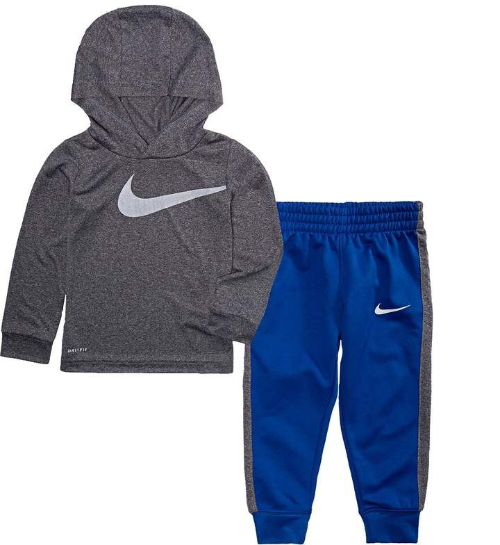 Betsy Trotwood bandeja guisante  Toddler Boy Nike Dri-FIT Logo Hoodie & Jogger Pants Set   Boys fall  outfits, Baby girl pants, Baby boy pants