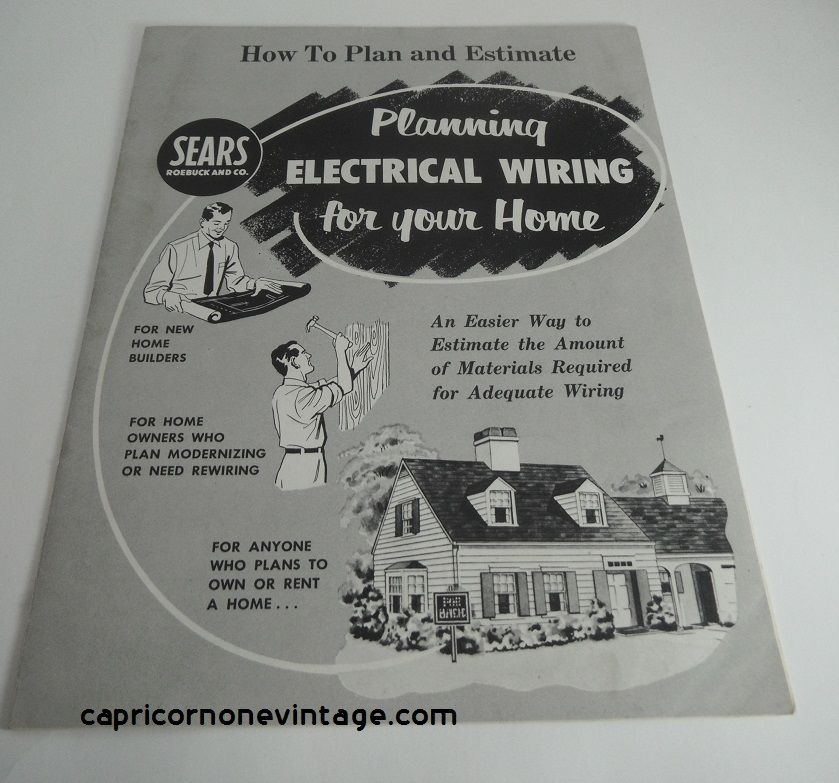 Phlet Planning Electrical Wiring For Your Home Vintage Department Store 1950s: 1950s Home Wiring At Outingpk.com