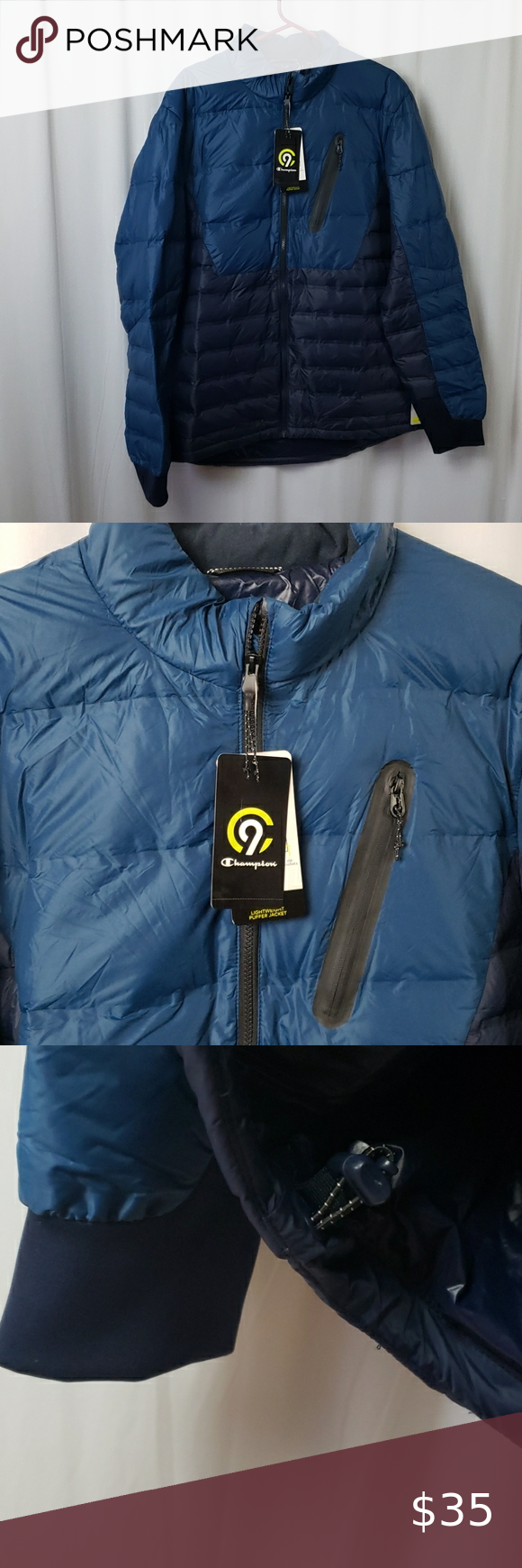Nwt Champion Lightweight Puffer Coat Puffer Coat Champion Jacket Fashion [ 1740 x 580 Pixel ]