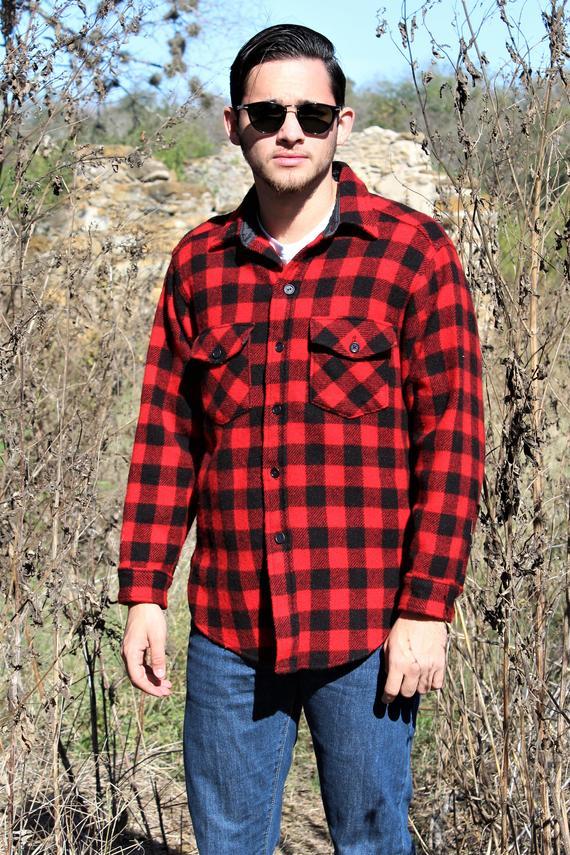 d5aeadb8b Flannel Shirt | Vintage L.L. Bean, Old Friends, Large, Buffalo Plaid,  Hipster Flannel, Plaid Shirt,