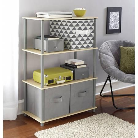 Walmart Utility Shelves Mainstays No Tools 6Cube Storage Shelf Multiple Colors  Walmart