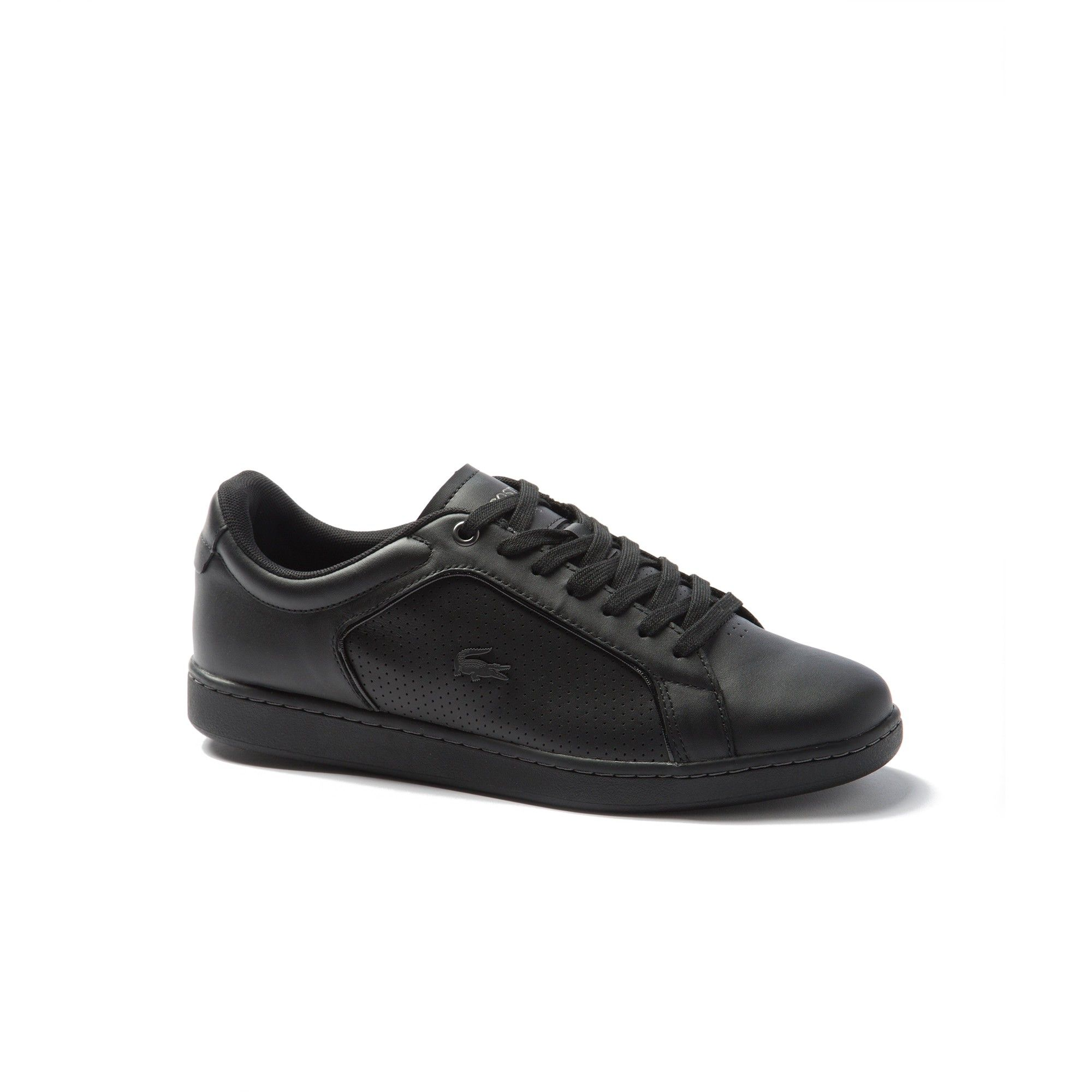 2fd58457fb3e LACOSTE Men s Carnaby Evo Leather Sneakers - blk blk.  lacoste  shoes