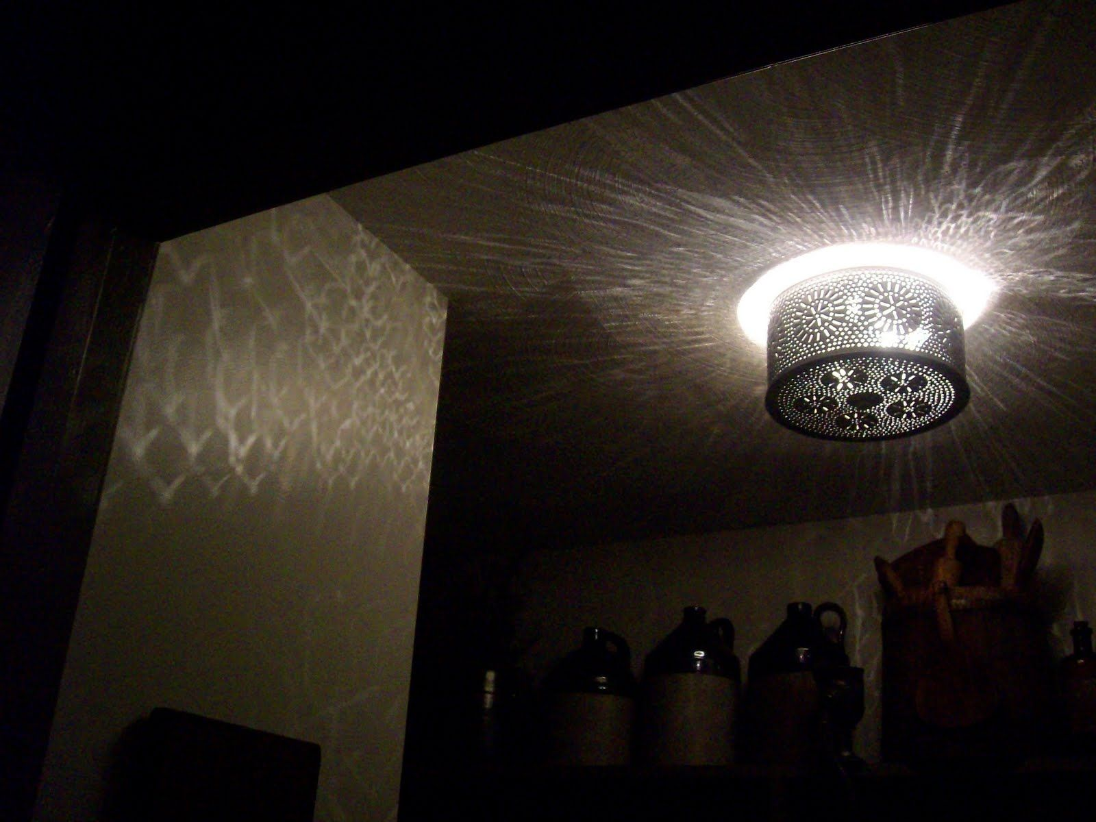 Punched Tin Ceiling Lights | http://creativechairsandtables.com ...
