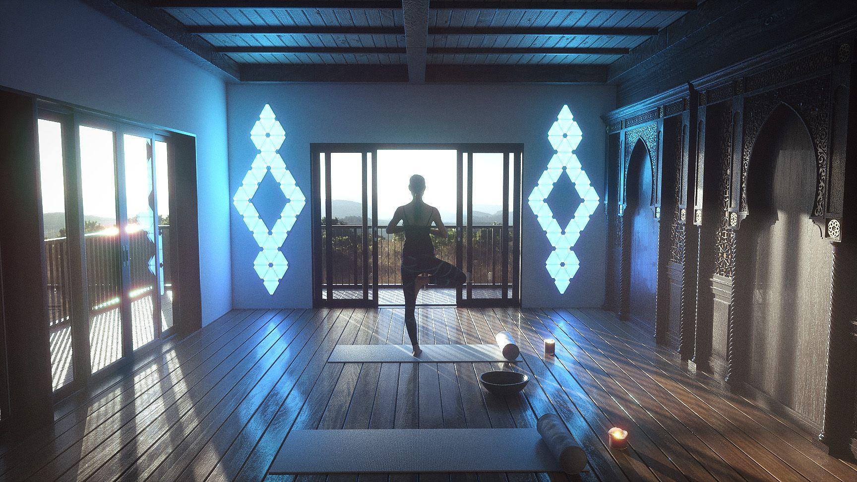 Nanoleaf Nanoleaf Designs Gym Decor Nanoleaf Lights