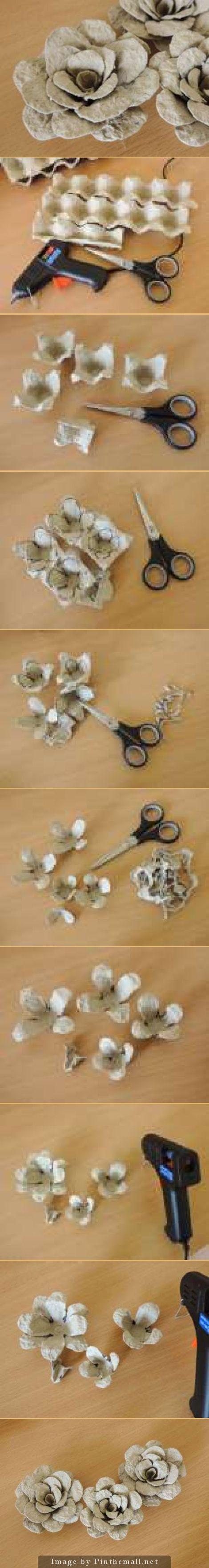 Rosenblüten Aus Eierkartons Leder Rüstung Pinterest