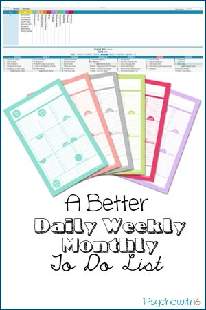 A Better Daily Weekly Monthly To Do List  Free Printable Macs