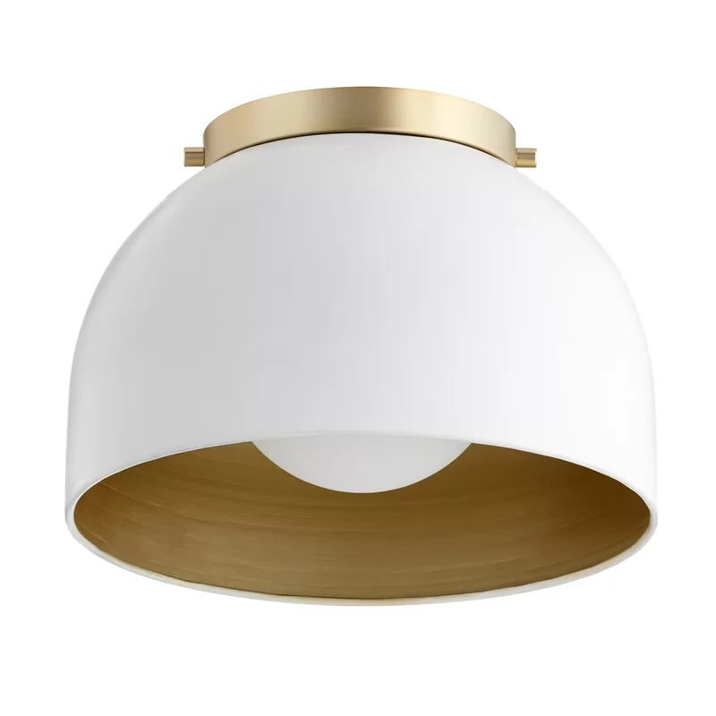 Cauthen 1 Light 11 25 Simple Dome Flush Mount In 2020 Ceiling Lights Light Lighting Sale