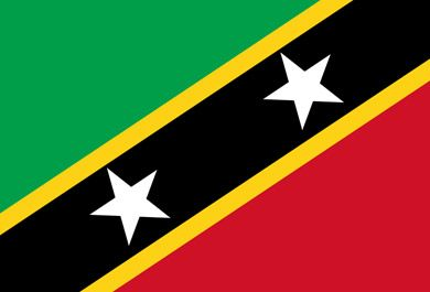 The Flag Of St Kitts And Nevis Comprises Two Five Pointed White