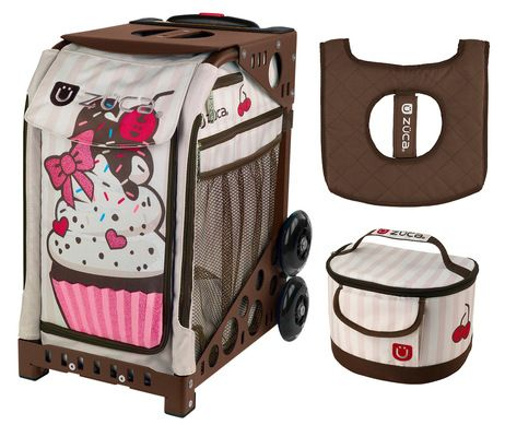 Chevron with GIFT Lunchbox and Seat Cover Gray Frame Zuca Sport Bag