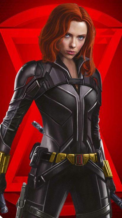 Black Widow 4k Red Iphone Wallpaper In 2020