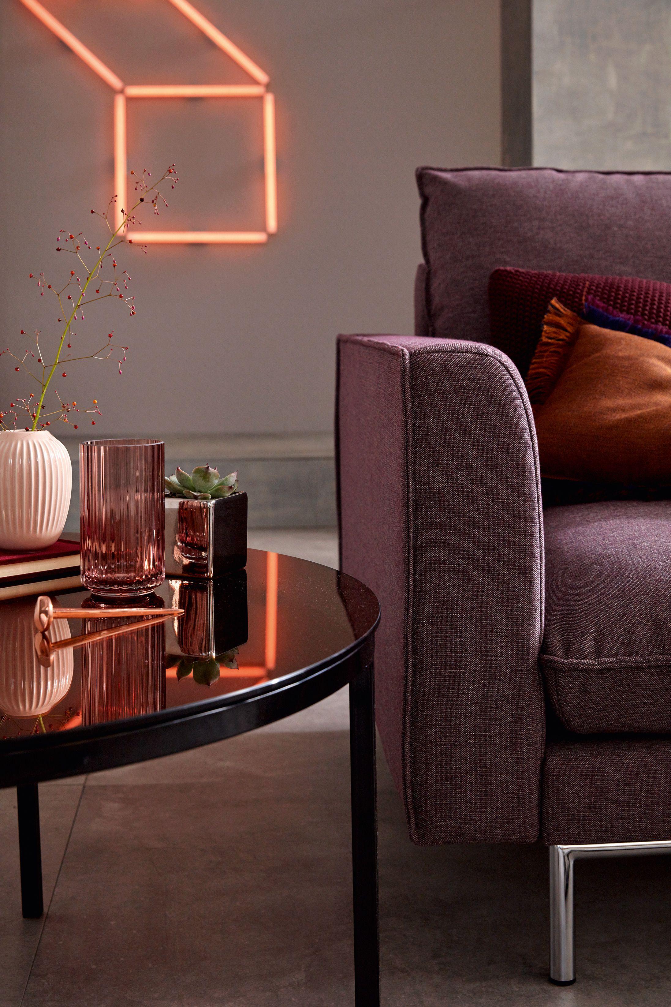 hülsta sofa hs 454 elegantes Sofa zum Anreihen Seitenteil Form