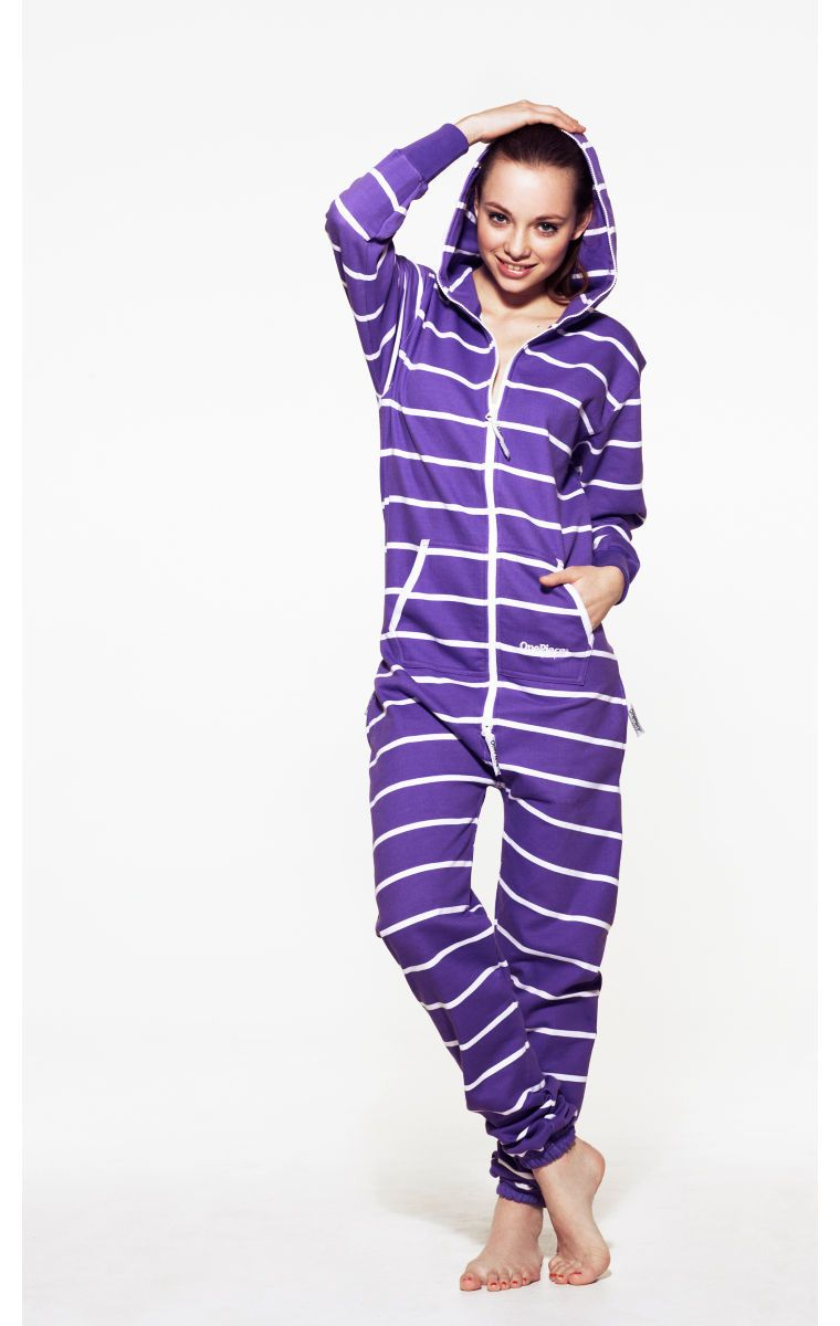 774127b89ec7  OnePiece Stripe Onesie Purple White