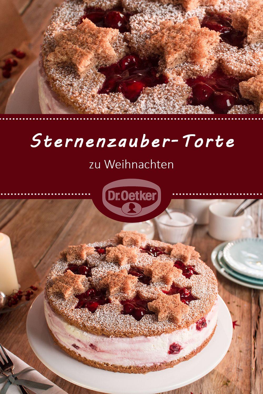 Sternenzauber Torte Rezept Weihnachtsbackerei Pinterest