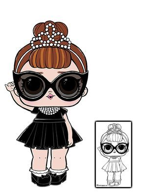 Lol Surprise Doll Coloring Pages Page 8 Color Your Favorite Lol Surprise Doll Lol Dolls Doll Party Cute Characters