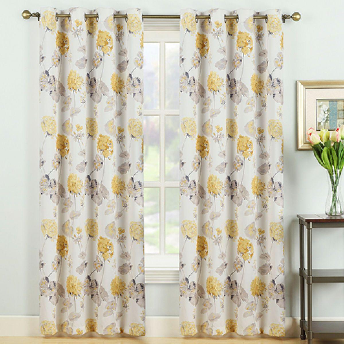 Laura Ashley Geranium Print Grommet Panel Yellow Boscov S Grommet Curtains Panel Curtains Laura Ashley Curtains