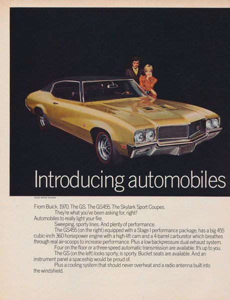 1970 Buick GS455 Skylark Sport Coupe Ad