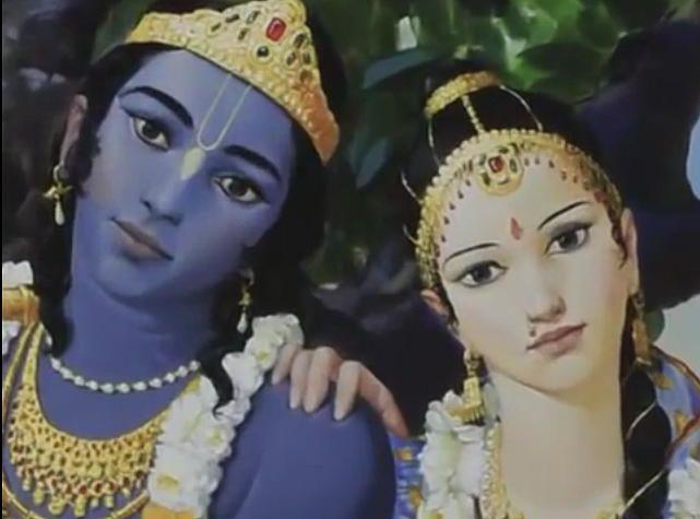 Radharani With Krishna Artist Giampaolo Tomassetti