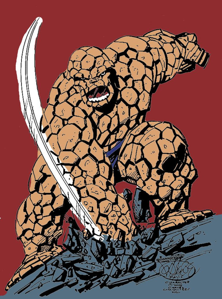 Byrne The Thing Colored Marvel Comics Art Marvel Comics Superheroes Marvel Masterworks
