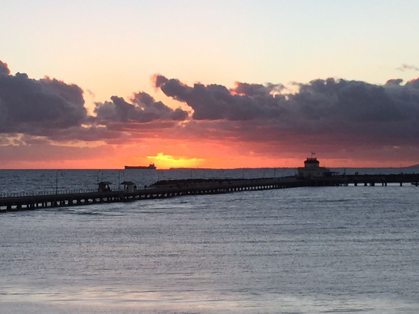 Sunset Over St Kilda Pier From The Harbour Room Royal Melbourne Yacht Squadron