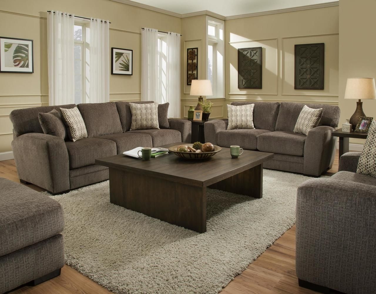 Albany ultimate brownie sofa loveseat set 968 savvy discount furniture