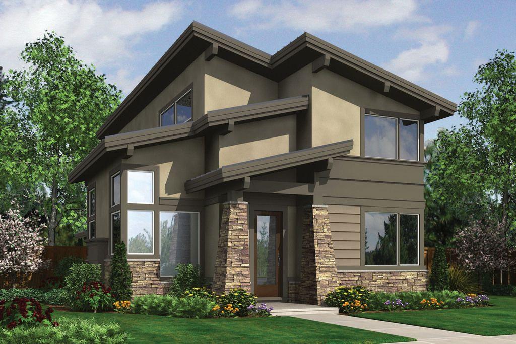 Plano de casa moderna y rustica con 3 dormitorios y 2 for Casa moderna rustica