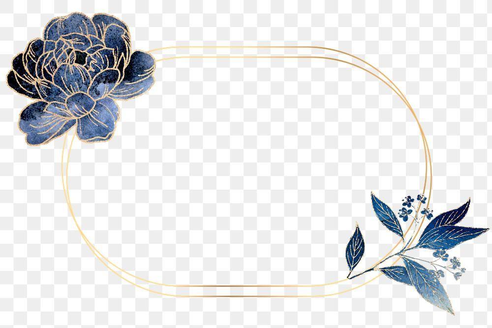 Golden Peony Flower Frame Design Element Free Image By Rawpixel Com Adj Flower Frame Frame Design Flower Png Images