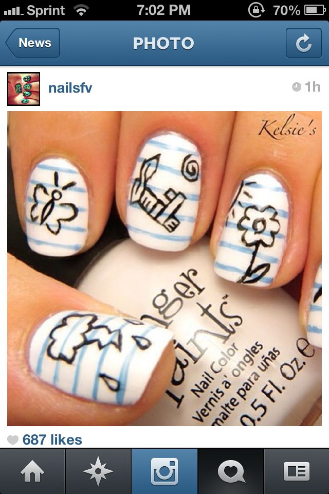Cute Nails For Back To School Nail Art Pinterest School Nails
