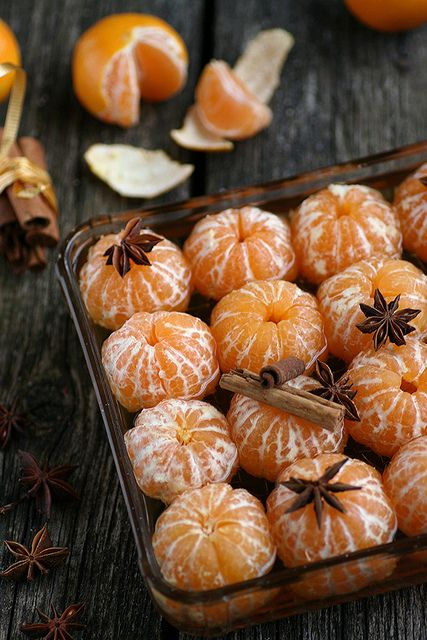 Christmas | clementines in spiced cider