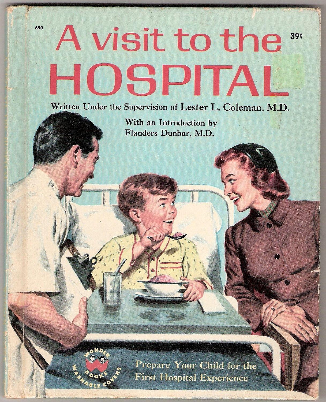 A Visit To The Hospital Vintage Wonder Book Illustrations