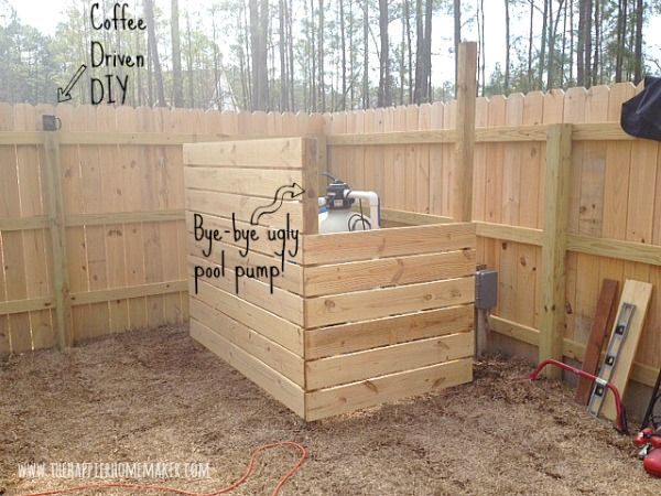 DIY Wood Screen Under $40 | DIY Home Decor Ideas | Pool ... Pump House Design Pool Hot Tub Covering on