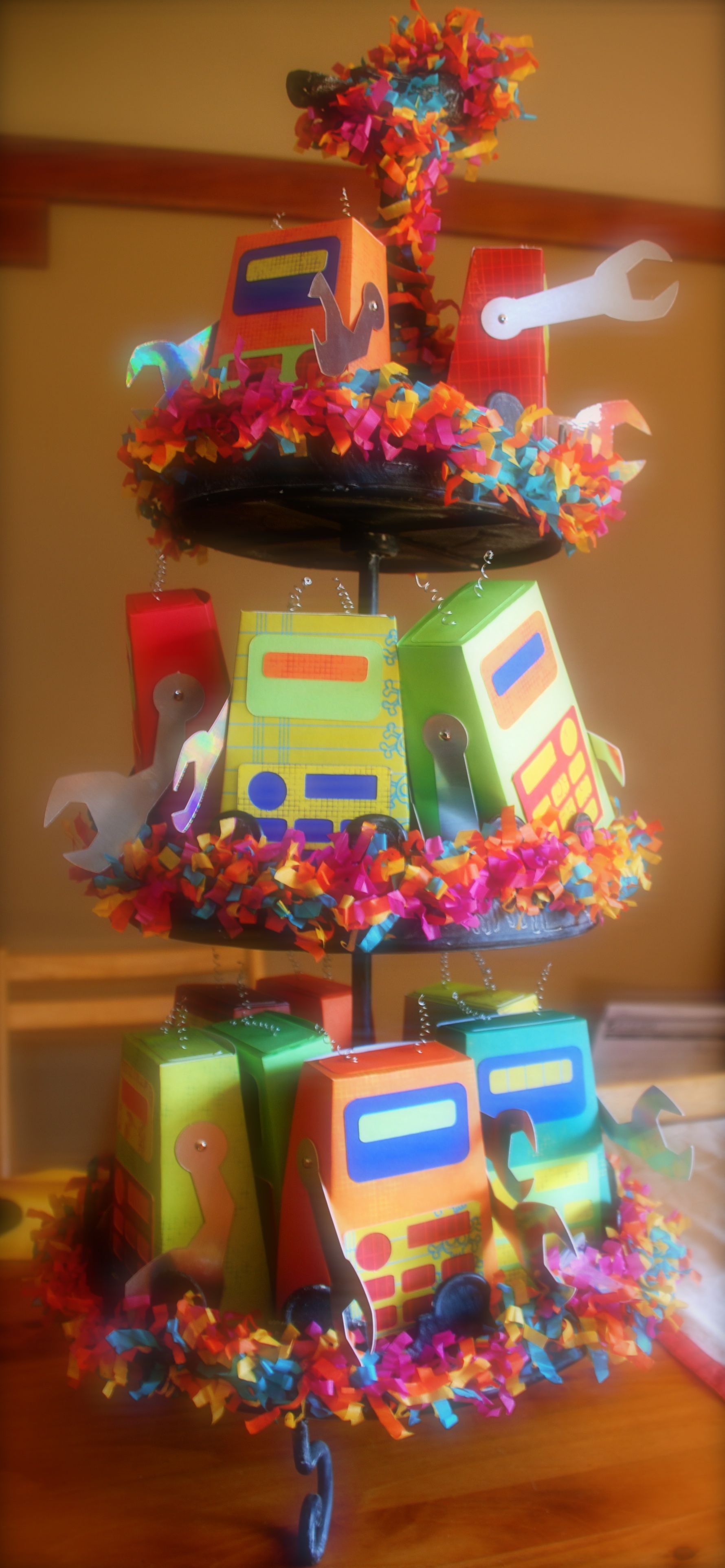 Birthday favor box display boxes from etsy robots