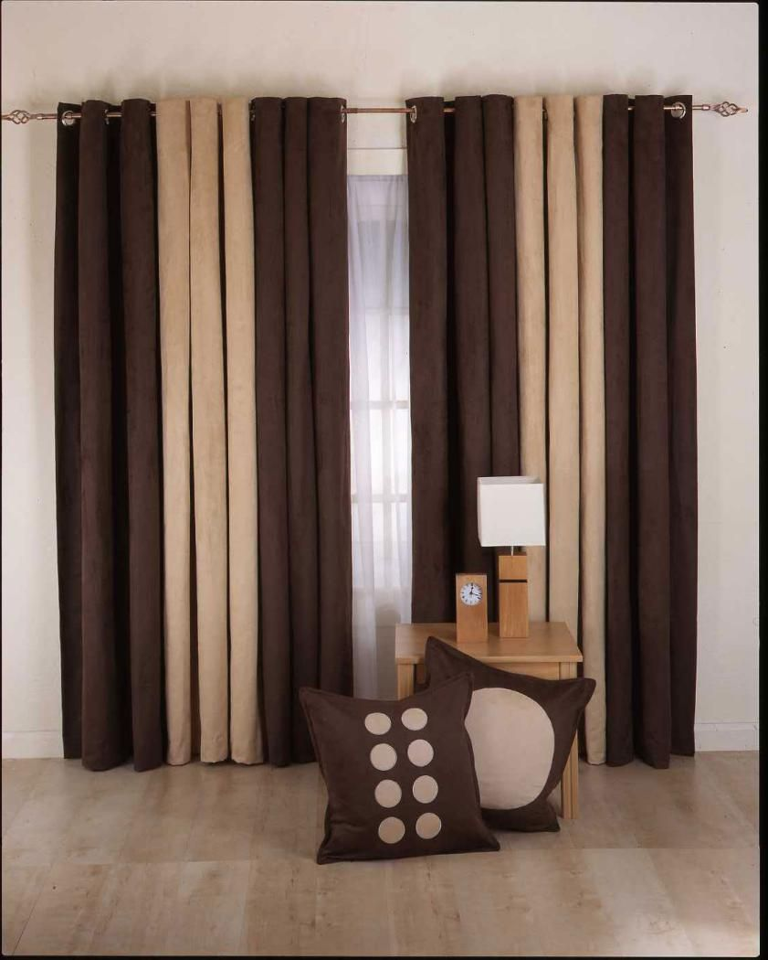 How To Design Curtains For Living Room Mesmerizing Brown Modern Living Room Curtain For Minimalist Decor