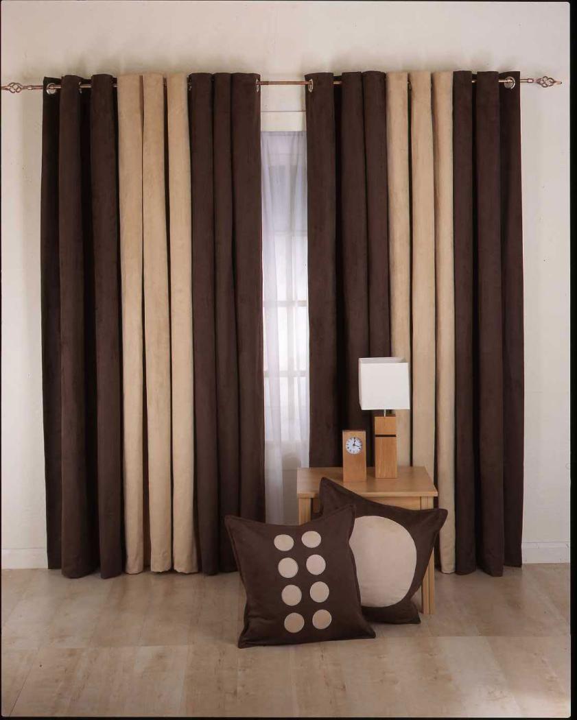 Mesmerizing brown modern living room curtain for minimalist decor