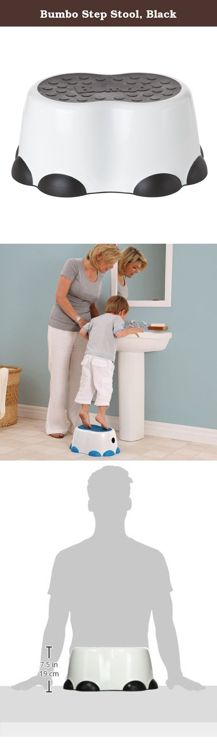 Bumbo Step Stool, Black. A Portable, Lightweight And Sturdy Stool Designed  To Help