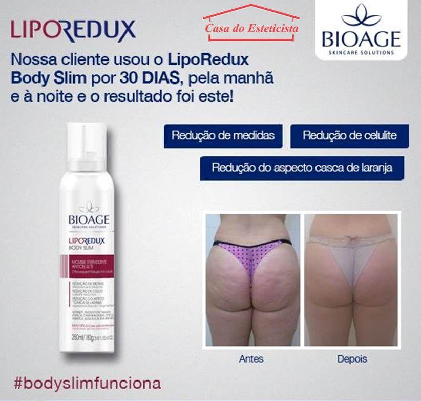 Mousse Redutor De Medidas Bioage Lipo Redux Body Slim Com Imagens