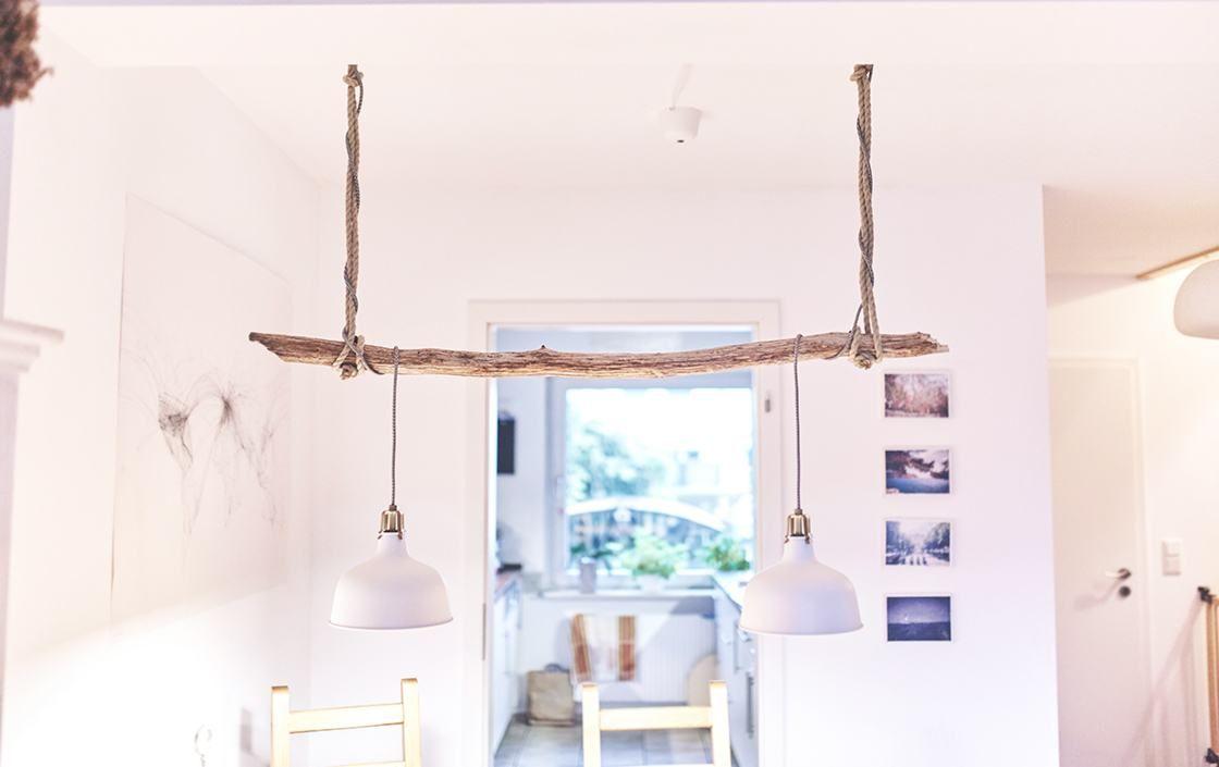 Vintage wohnideen vintage treibholz lampe selber bauen  simple anleitung  d i y
