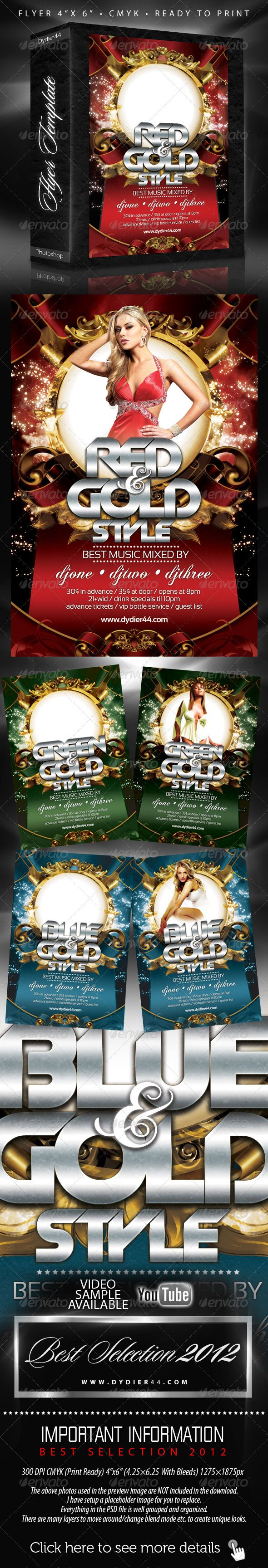 Colors And Gold Flyer Template 4x6 Flyer Template Template And