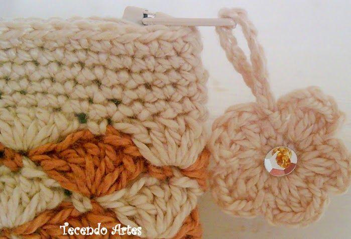 Monedero crochet con rombos Crochet y Dos agujas - Patrones de