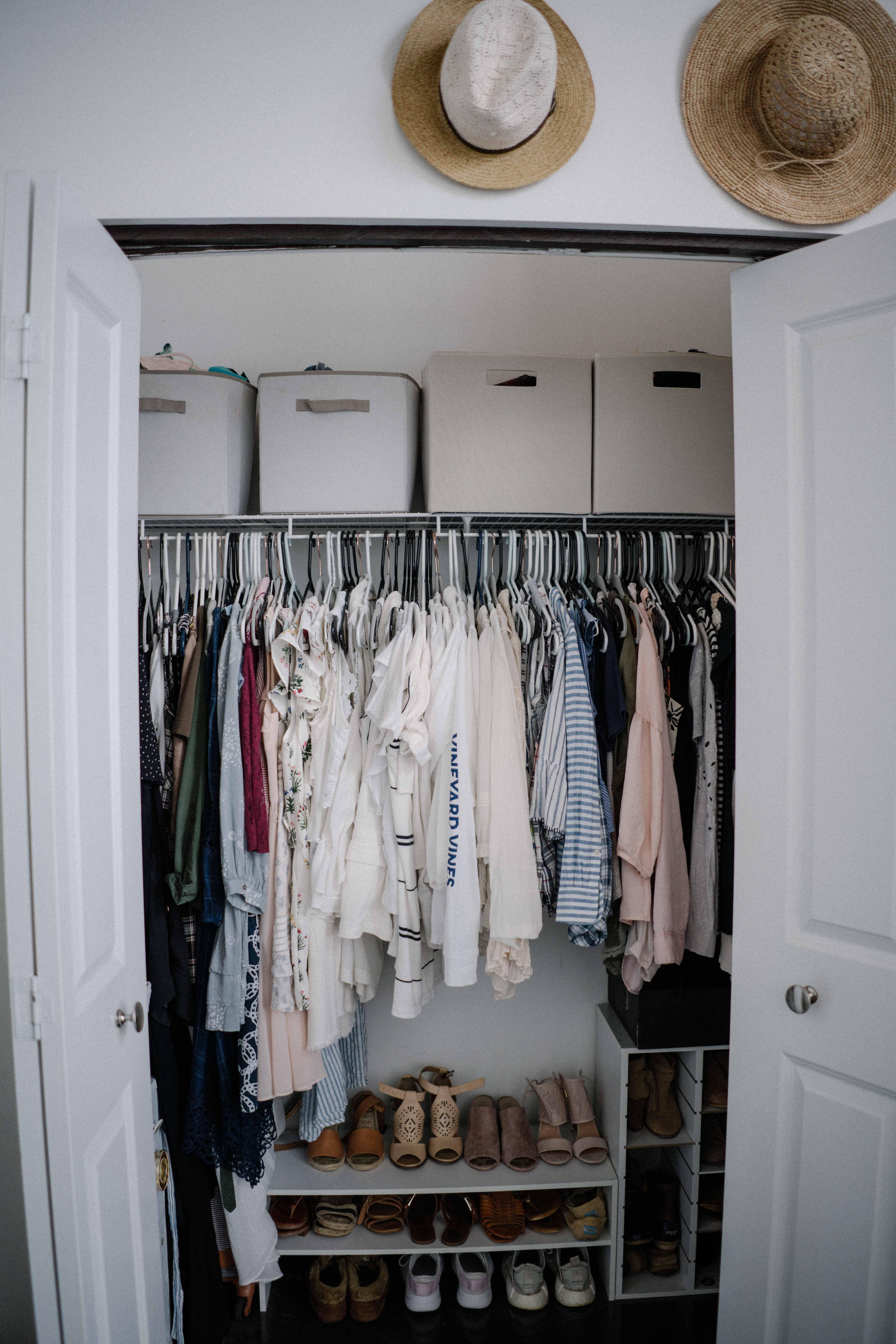 An Apartment Closet Tour Organization Process Closet Apartment Small Apartment Closet Bedroom Organization Closet