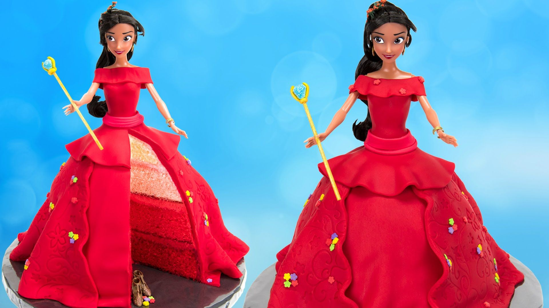 How to Make Disney Princess Elena of Avalor Doll Cake | birthday ...