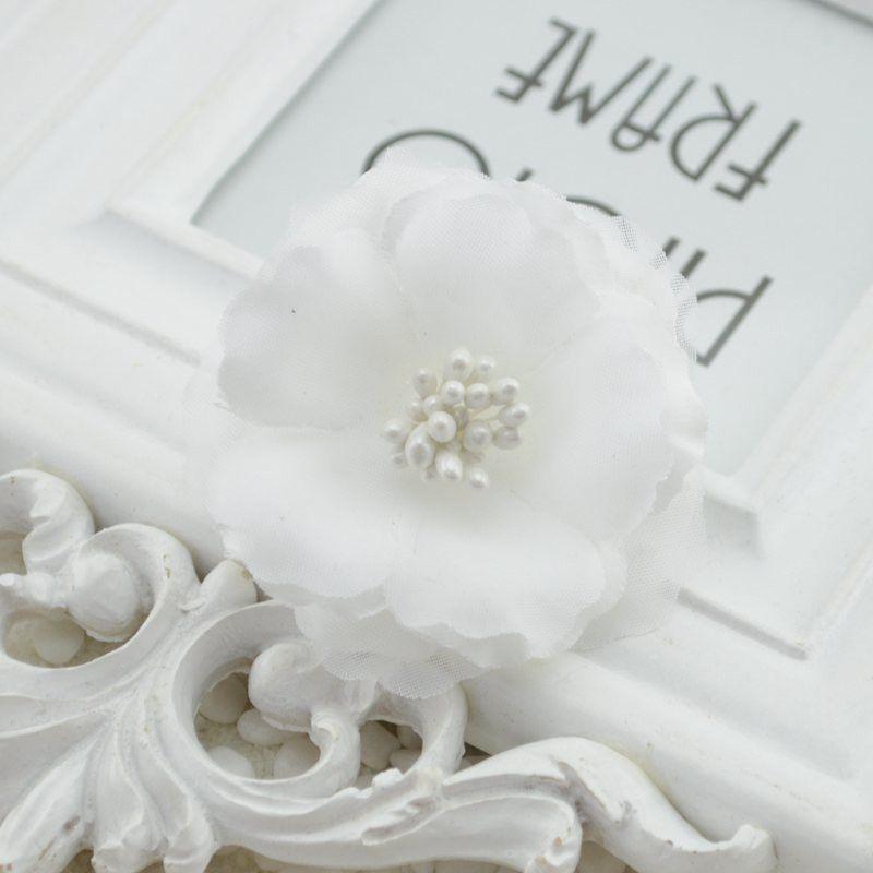 5.5cm Silk Artificial Plum Blossom Flower For Wedding Decoration DIY Wreath Scrapbooking Craft Flower